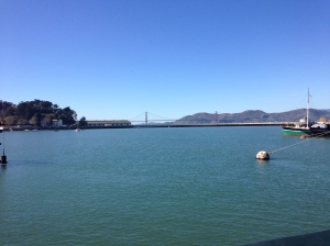 The Golden Gate Bridge is so close yet so far away from Hyde St. Too far, in fact.